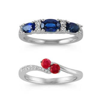 Sapphire & Ruby Rings