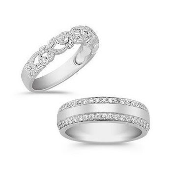 White Gold The Modern Clic For Wedding Rings Shane Co